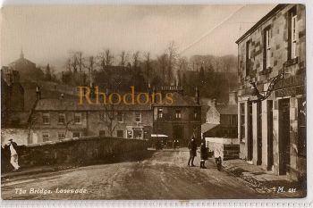 Scotland: Midlothian / Edinburgh, Lasswade - The Bridge. Early 1900s RP Postcard