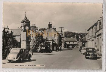 Scotland: Peeblesshire, West Linton, The Main Street, c1960s Postcard. (RP)