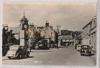 Scotland: Peeblesshire, West Linton, The Main Street, c1960s Postcard. (RP)