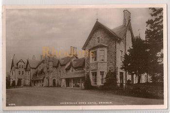 Scotland: Aberdeenshire, Invercauld Arms Hotel, Braemar c1940s Advertising Real Photo Postcard