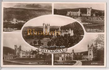 Scotland: Aberdeenshire, Balmoral Multiview, c1940s Real Photo Postcard