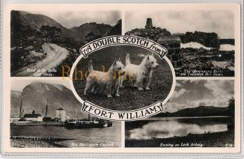 Scotland: Inverness-shire, Fort William Multiview. Real Photo Postcard