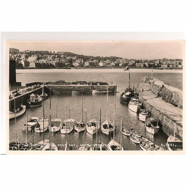 Scotland: East Lothian, North Berwick, The Harbour & West Bay. 1950s RP Postcard