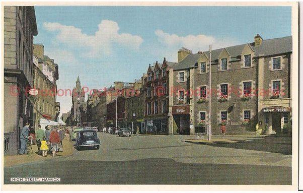 Scotland: Borders, High Street, Hawick, Roxburghshire. 1960s Postcard