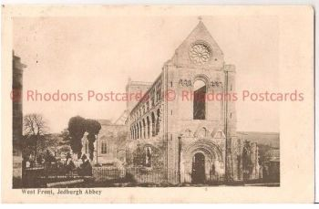 Scotland: Borders, Roxburghshire. Jedburgh Abbey, West Front. Early 1900s Postcard