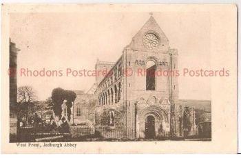 Scotland: Borders, Roxburghshire. Jedburgh Abbey, West Front. Early 1900s Postcard