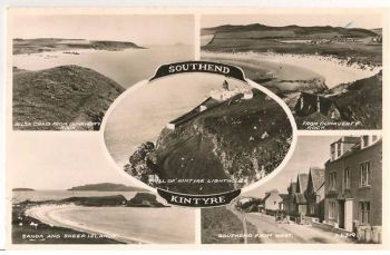 Scotland: Argyllshire. Southend Kintyre, 1950s Multiview Postcard