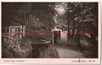 Scotland: Argyll & Bute. Lovers Walk Rothesay, Argyll & Bute. Early 1900s RP Postcard