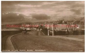 Scotland: Ayrshire, Ardrossan, Evening At North Shore. Early 1900s Davidson RP Postcard