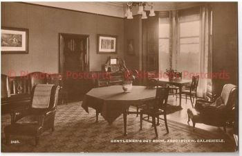 Scotland: Borders, Selkirkshire, Gentlemen's Day Room, Abbotsview Galashiels. Early 1900s RP Postcard