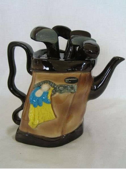 Novelty Golf Bag Teapot by Coopercraft