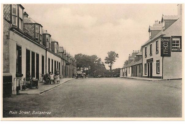 Scotland: Ayrshire. Ballantrae, Main Street & Royal Hotel. 1930s Photo Postcard