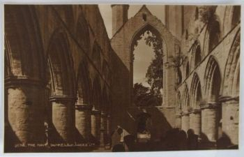 Scotland: Perthshire,The Nave Dunkeld Abbey. Circa 1930s Photo Postcard