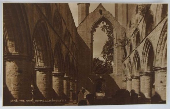 Scotland: Perthshire. The Nave Dunkeld Abbey. Circa 1930s Photo Postcard