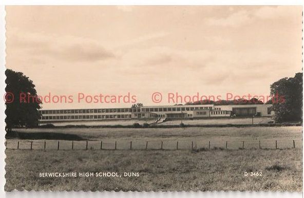 Scotland: Berwickshire High School Duns. 1950s RP Postcard