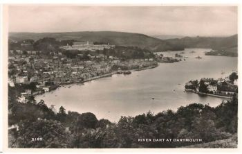 Devon: River Dart At Dartmouth. Circa 1930 /40s Real Photo Postcard