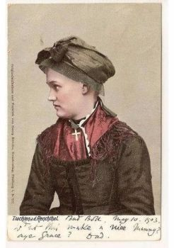 Fashion: Costumes, Germany: Trachten a d Renchthal. Early 1900s Postcard