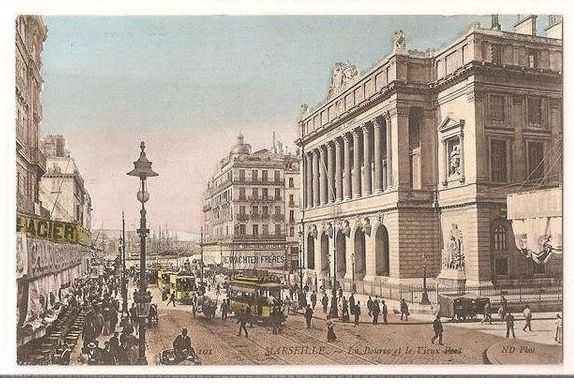 France: Marseille, Le Bourse et le Vieux Port. Early 1900s Postcard