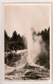 New Zealand: Geyser At Waiotapu. Circa 1930s RP Postcard