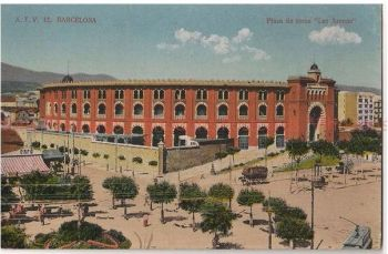Spain: Barcelona. Plaza de Toros 'Las Arenas.' c1920s Postcard