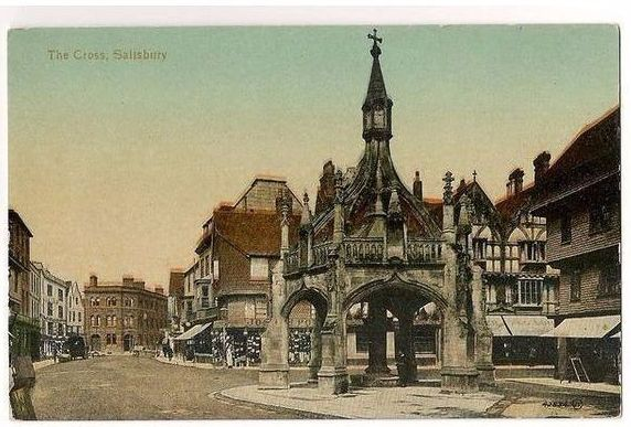 England: Wiltshire. The Cross Salisbury, Wiltshire. Early 1900s Postcard View