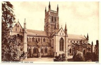 England: Worcestershire. Worcester Cathedral, The North Side. Circa 1930s Postcard