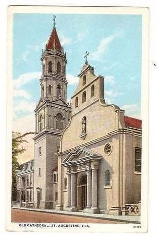 USA: Florida. Old Cathedral, St Augustine, Florida. Early 1900s Postcard