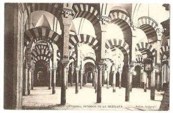 Spain: Cordoba Cathedral, Interior De La Mezquita. Circa 1930s Postcard