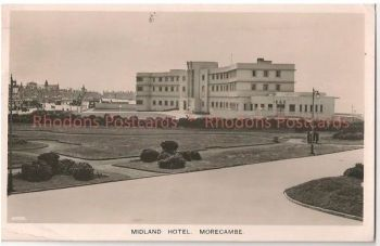 Lancashire: Midland Hotel, Morecombe. 1940s Real Photo Postcard