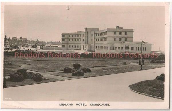 England: Lancashire. Midland Hotel, Morecombe. 1940s Real Photo Postcard