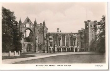England: Nottinghamshire. Newstead Abbey West Front. RP Postcard