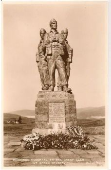 Scotland: Inverness-shire. Commando Memorial In The Great Glen, Spean Bridge. 1950s RP Postcard