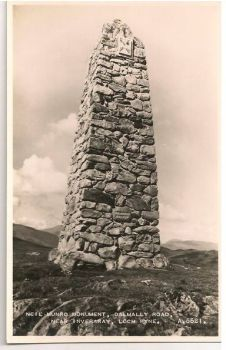 Scotland: Argyllshire. Neil Munro Monument.1950s Real Photo Postcard