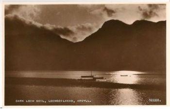 Scotland: Argyllshire. Loch Goil Lochgoilhead. RP Postcard