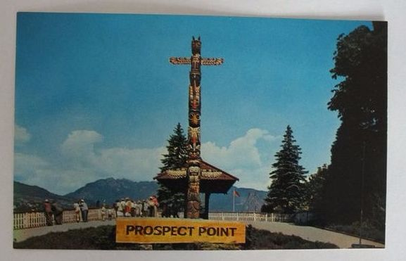 Canada: Stanley Park, Vancouver. The Lookout at Prospect Point. 1970s Postcard