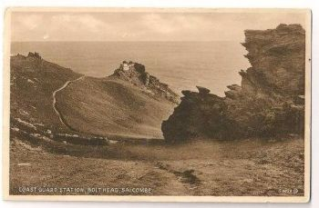 Devon: Coast Guard Station, Bolt Head, Salcombe. Circa 1920s Postcard