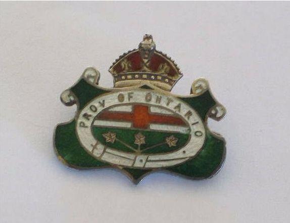 Province of Ontario Canada. Sterling Silver & Enamel Shield Brooch / Pin.