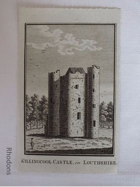 Killingcool Castle In Louthshire Ireland, Antique Georgian Print. c1780s