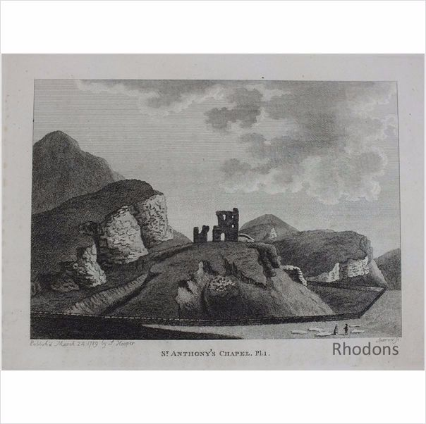 Hooper & Sparrow Antique Engraving St Anthonys Chapel Edinburgh. Published March 24th 1789
