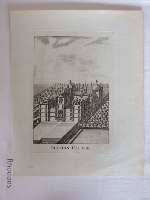 Antique Georgian Print, Scotland, Gordon Castle (Morayshire), c1780s