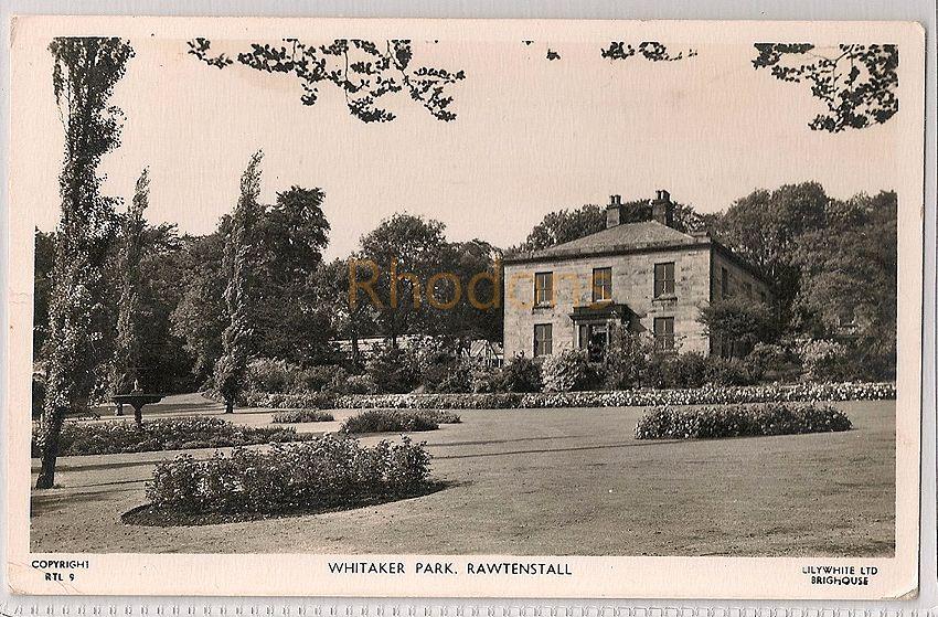 England: Lancashire. Whitaker Park, Rawtenstall. RPPC