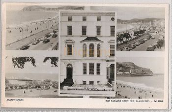 Wales: Caernavonshire, Llandudno Multiview RP. 1960s Hotel Advertising