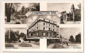 Leamington Spa, Warwickshire  Multiview Postcard