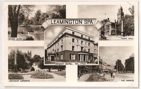 England: Warwickshire. Leamington Spa. Multiview Postcard