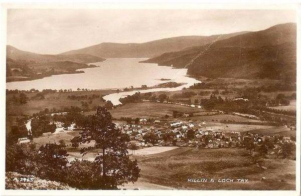 Scotland: Perthshire, Killin & Loch Tay. 1930s Valentines RP