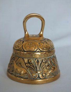 Brass Zodiac Prayer Bell. Early / Mid 1900s