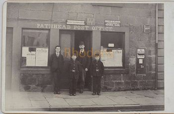 Post Office Staff & Messenger Boys, Pathhead, Late Victorian Photo