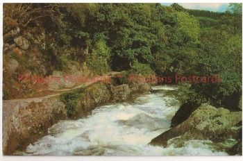 The Falls Of Leny, Callander, Stirlingshire, Scotland. 1960s Postcard