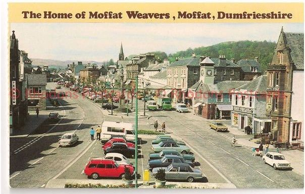 Scotland: Dumfriesshire: Moffat Weavers, Moffat, Scotland. Vintage Advertising Postcard.