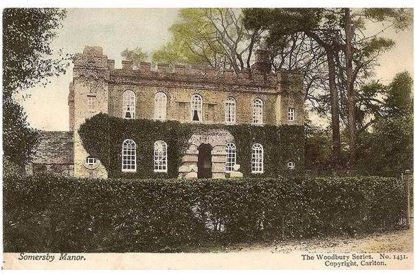 Lincolnshire: Somersby Manor. Early 1900s Postcard (Woodbury Series)